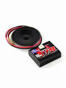 V8 Straigh Cut With Gears Sound Module For Rc Cars