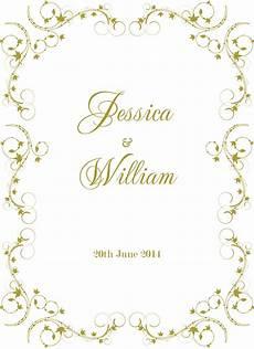 Wedding Invite Border