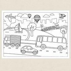 transportation coloring worksheets 15179 childrens colouring in activity transport colouring sheet cleverpatch free printable