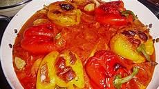 gefüllte paprika mit reis gef 252 llte paprika mit hackfleisch und reis rezept mit bild