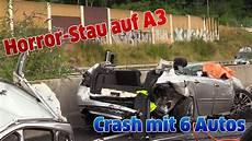 stau auf a3 leverkusen horror stau auf a3 crash mit 6 autos