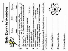 static electricity worksheet by early teachers pay teachers