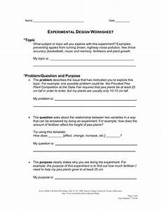 experimental design worksheet the emory college center for