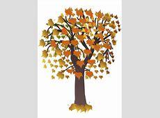 Afbeelding   prent boom in herfst   Afb 20554