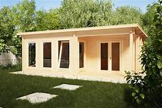 garden log cabin malaga 2 22m2 7 x 4 m 58mm hansa24