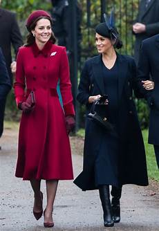 kate middleton and meghan markle at christmas service 2018 popsugar uk