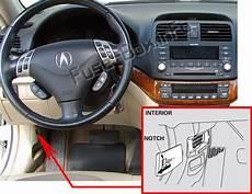 Fuse Box Diagram Gt Acura Tsx Cl9 2004 2008