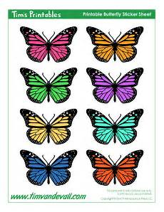 butterfly stickers tim s printables