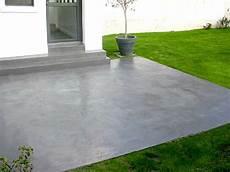 dalle terrasse beton decoration peindre beton exterieur peinture