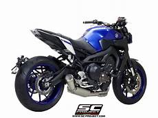 yamaha mt 09 2017 2018 2019 system exhaust by sc