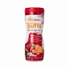 Happy Baby Organic Puff strawberry organic puffs for babies by happy baby thrive