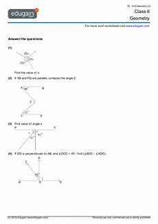 basic geometry worksheets for grade 6 641 class 6 math worksheets and problems geometry edugain india