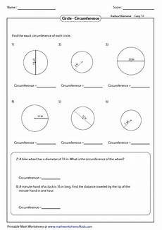 circumference worksheets with answers circumference and area of circle worksheets