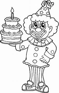 Malvorlagen Geburtstag Clown Geburtstag