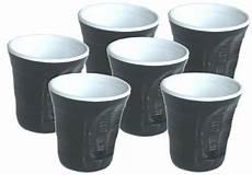 bicchieri neri set 6 bicchieri accartocciati neri caffettiere moka