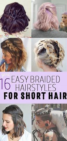 16 easy and cute braided hairstyles for short hair