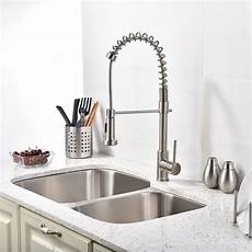 faucet sink kitchen shop quilmes brushed nickel kitchen sink faucet with pull sprayer at fontanashowers
