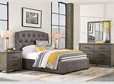 Urban Plains Gray 7 Pc King Upholstered Bedroom   Contemporary