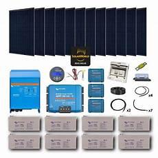 Kit Solaire 3420w Autonome Mono Convertisseur 230v 5000va