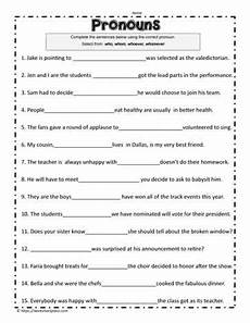 grammar worksheets who or whom answers 25035 who or whom worksheet worksheets
