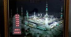 Hiasan Islami Gambar Masjidil Haram Jam Waktu Solat