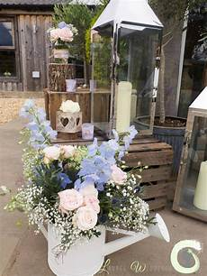 rustic wedding flowers at owen house barn laurel weddings