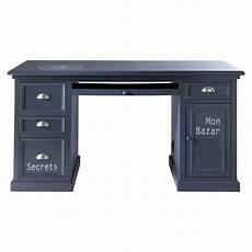 bureau 150 cm bureau gris l 150 cm newport maisons du monde