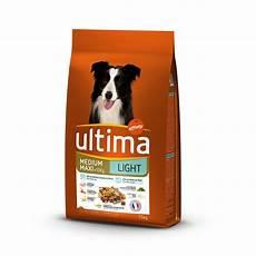 croquette chien croquettes pour chien medium maxi 10 kg light ultima pas