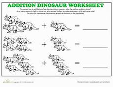 triceratops addition coloring worksheet education com