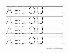 preschool vowel tracing search education