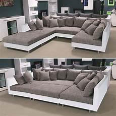 sofa mit hocker wohnlandschaft xxl cleos ecksofa couch sofa mit hocker in