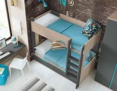 lit superpos 233 avec bureau pour 2 enfants glicerio so nuit