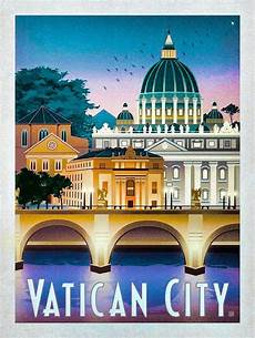 vatican city travel poster in 2019 travel posters poster city vintage travel posters