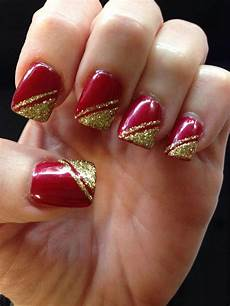simple christmas nail designs nails art design