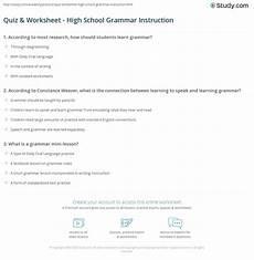 grammar worksheets for high school 24679 quiz worksheet high school grammar study