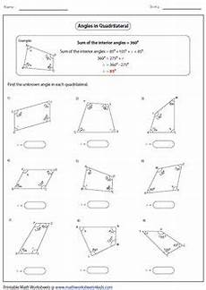 the missing angle quadrilaterals geometry pinterest