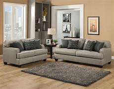Beautiful Modern Comfortable Grey Gray Fabric Sofa