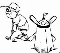 Gratis Malvorlagen Minigolf Junge Beim Minigolf Ausmalbild Malvorlage Jahreszeiten