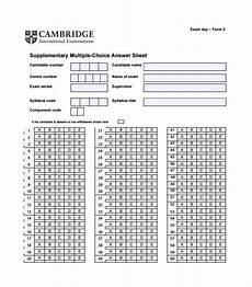 10 printable answer sheet templates sles exles free premium templates