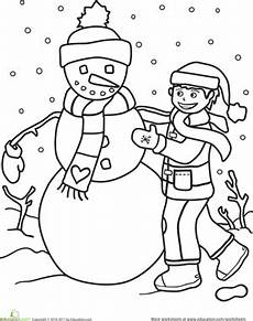 winter worksheets for kindergarten 19961 color the snowman worksheet education