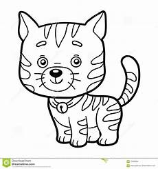 coloring book coloring page cat stock vector