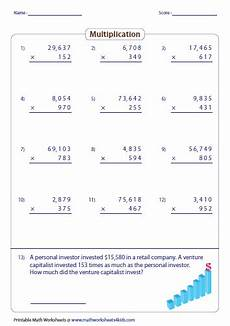 multiplication worksheets large numbers 4470 multiplying large numbers worksheets