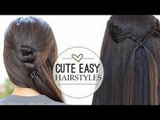 3 quick and easy ponytails back to school hairstyles youtube hair styles pinterest