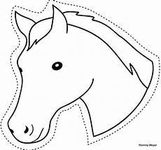 Malvorlage Pferd Din A4 Ausschneiden Pferde 1 Kindergeburtstag Basteln Pferd