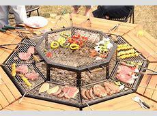 DIY communal outdoor grill