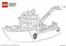 Malvorlage Polizeischiff Coloriage Lego City Boat Dessin