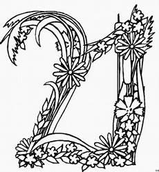 november malvorlagen xxi zahl 21 aus blumen ausmalbild malvorlage zahlen