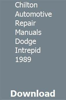 auto repair manual free download 1994 chrysler lhs windshield wipe control chilton automotive repair manuals dodge intrepid 1989 repair manuals chilton repair manual