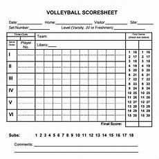 free 11 sle volleyball score sheet templates in