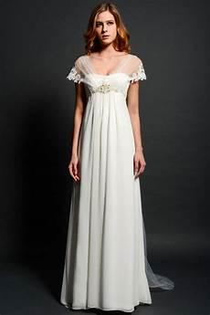Robe De Mariage Maternit 233 Empire Perl 233 Avec Mancherons